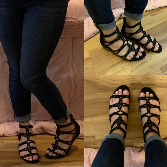 2e61c4a33a2 Sam Edelman Daryn gladiator sandal 7.5 leather. M 5c1ada156a0bb79cda175a57